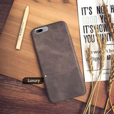 Genuine Original PU Leather Thin Slim Case Cover Apple iPhone 10 X 8 7 Plus 6s 5 7