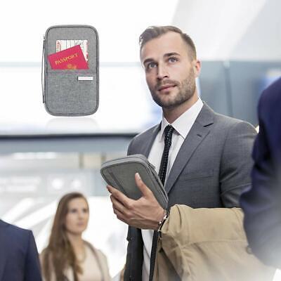 Family Passport Holder Travel Wallet Ticket Document Organiser Bag Multi-purpose 4