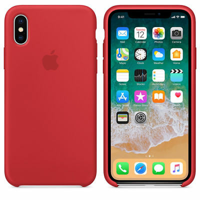 Original Silicone Leather Case For iPhone XR XS Max 6 7 8 Plus Genuine OEM Cover 2