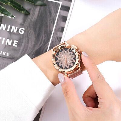 ASAMO modische Damen Armbanduhr mit Strass Steinen und Metall Armband AMA205 3