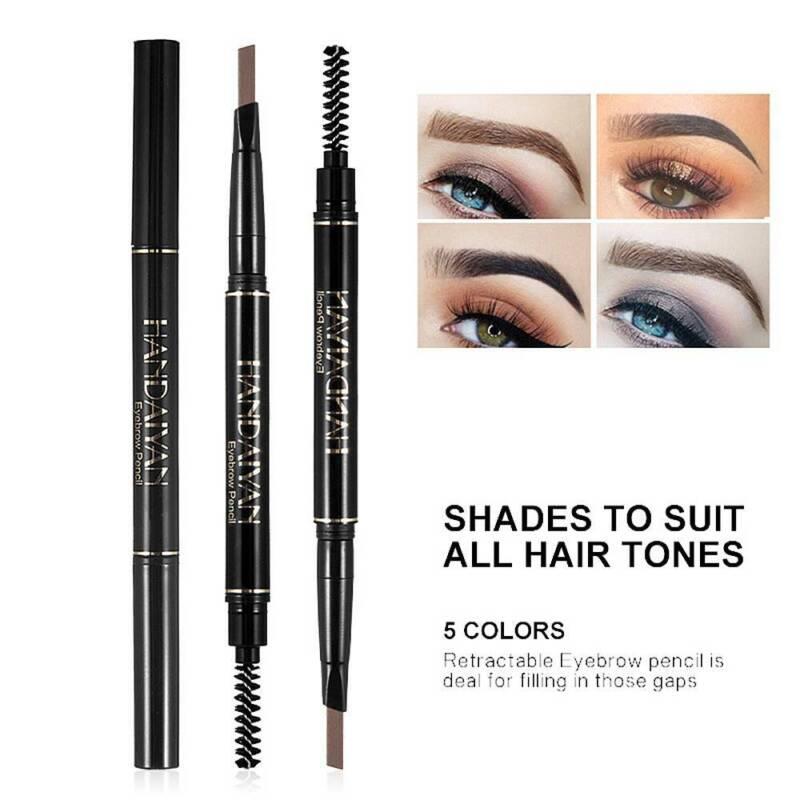 HANDAIYAN 2 in 1 Waterproof Eye Brow Eyeliner Eyebrow Pen Pencil With Brush 3
