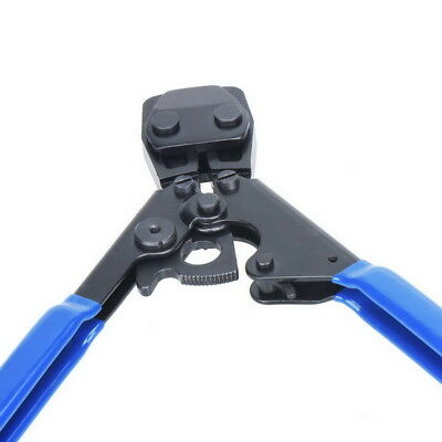 "US PEX Pipe Cinch Crimping Tool with Clamp Blue 1/2"" and 3/4"" Clamps Kit 7"