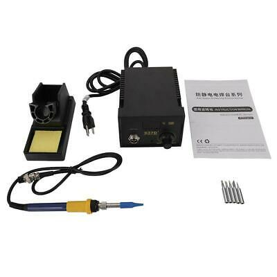 937D Electric Iron Soldering Station Welders with Stand Sponge Kit ESD Safe US
