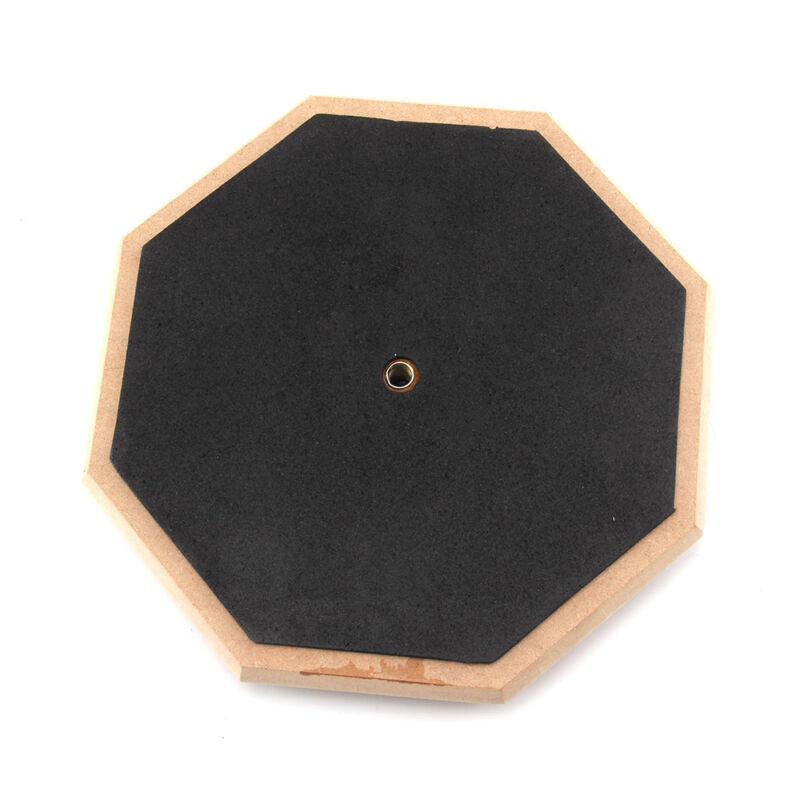 "8"" Soft Black Dumb Drum Pad Exercise Mat Blow Plate Drummers Rubber Double Sides 2"