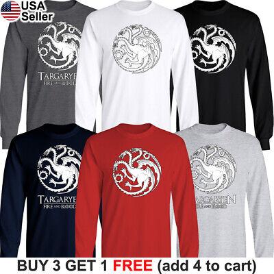 Game of Thrones Long T-Shirt House Targaryen GoT Fire and Blood Dragon Mother 2