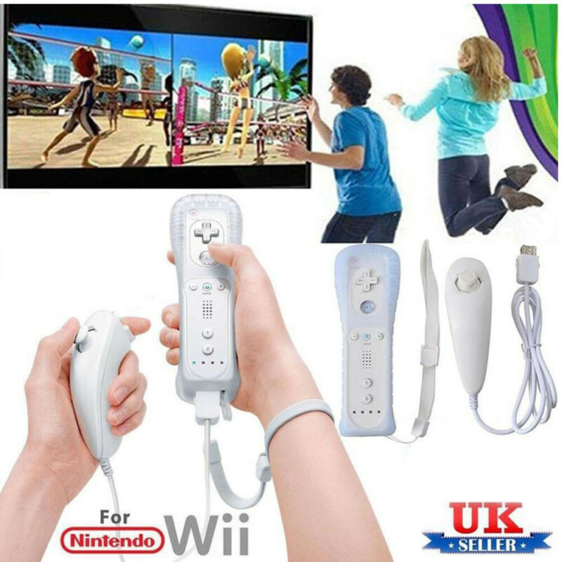 Remote and Nunchuck Controller with Motion Plus inside For NINTENDO WII &WII U 2
