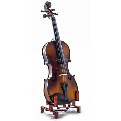 Solid Maple Spruce Wood Fiddle Violin 4/4 Full Size w Case Bow Rosin String 2