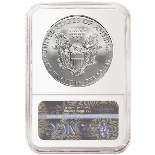 2020 (P) $1 American Silver Eagle NGC MS70 Emergency Production Brown Label 2