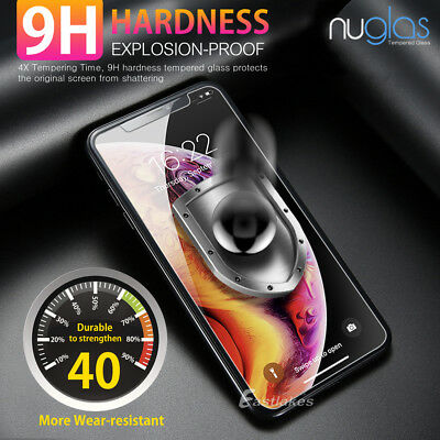 2x NUGLAS Tempered Glass Screen Protector Apple iPhone 11 XS Max XR 8 7 6s Plus 3