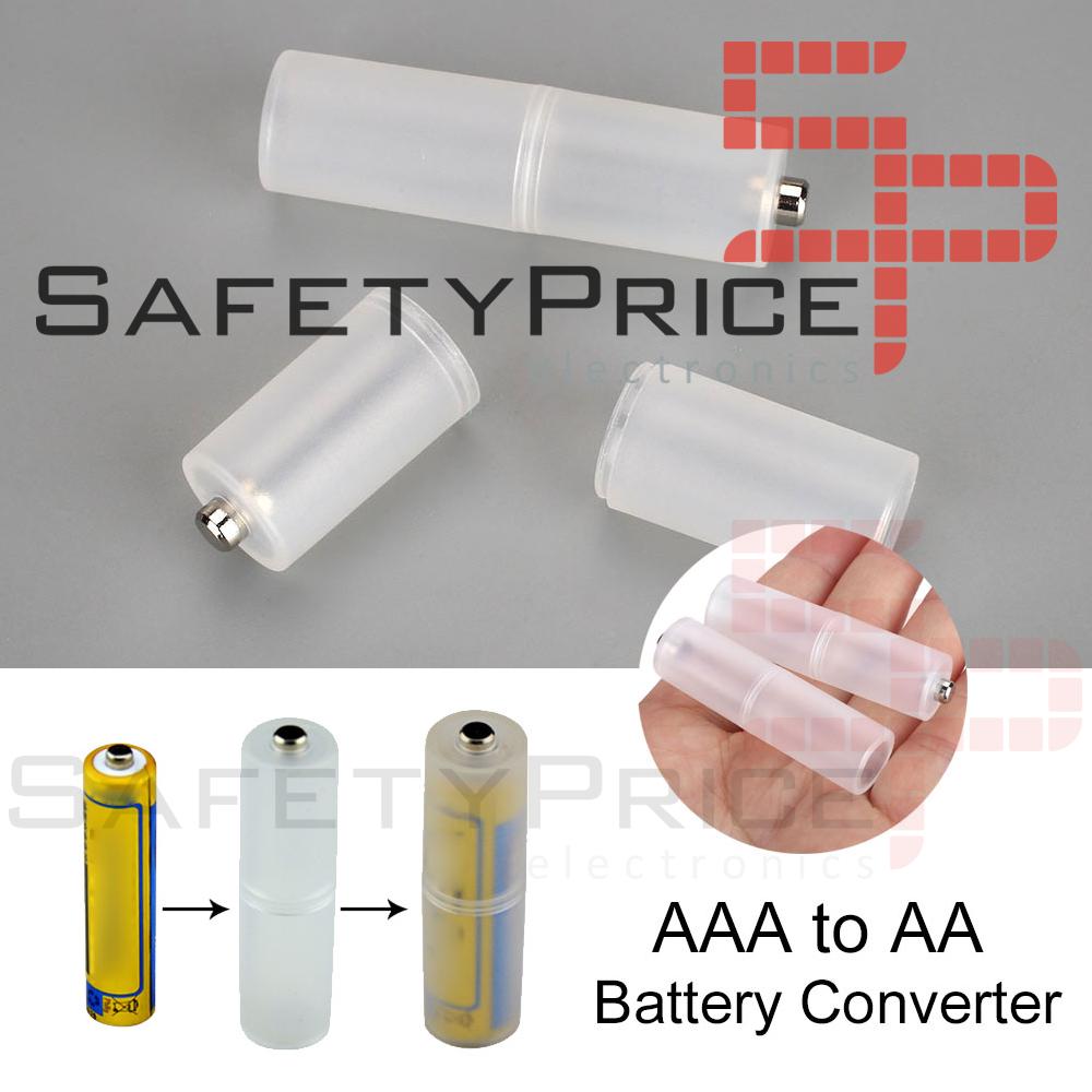 2x Adaptador Pilas AAA-AA Conversor AAA to AA converter 2