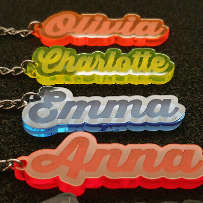 Personalised FROZEN KEYRING KEYCHAIN GIFT ANY NAME SCHOOL BAG  WORD TAG WOW 11