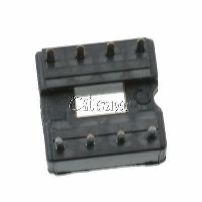 100PCS 8-Pins 8pin DIP Pitch IC Sockets Adaptor Solder Type Socket 4