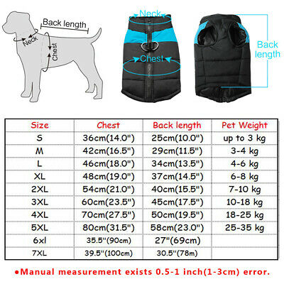 Winter Dog Clothes Small Large Big Dogs Waterproof Pet Coats Vest Jacket 10 Size 2