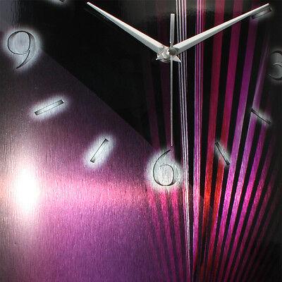 Totenkopf Pink Designer Funk Wanduhr leise Funkuhr Design ** Kreative Feder