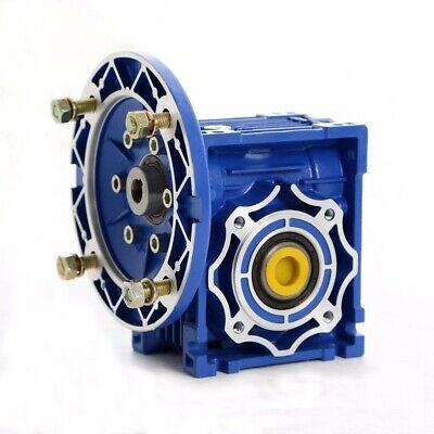 NMRV040 Worm Gearbox Gear Reducer 71B14 Ratio 10//20/25/30/40/50/60/80/100:1 7