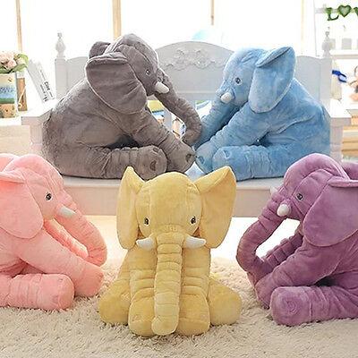 Plush Soft Stuff Toys Baby Children Gift Long Nose Elephant Doll Lumbar Pillow