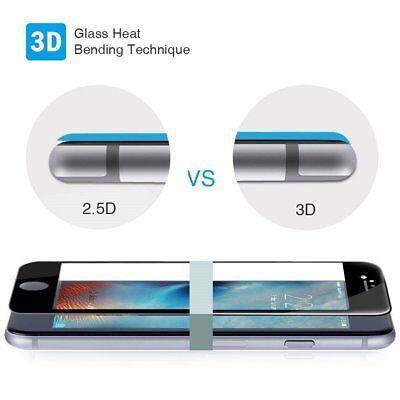 Cristal Templado 3D IPHONE 7 / IPHONE 8 / SE 2020  Protector CURVO NEGRO a3800 6