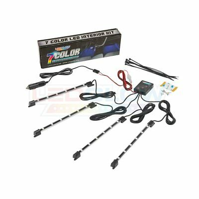 NEW! LEDGLOW 4pc 7 COLOR LED INTERIOR LIGHT KIT for ALL CARS w ACCENT NEON GLOW 5