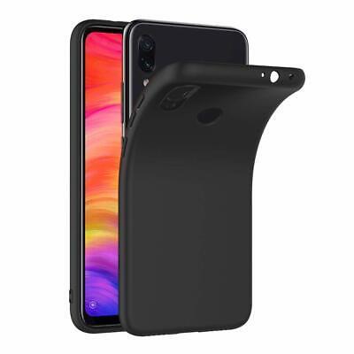 Cover Custodia + Pellicola Vetro Temperato Per Xiaomi Redmi Note 7 Nero Opaco 6