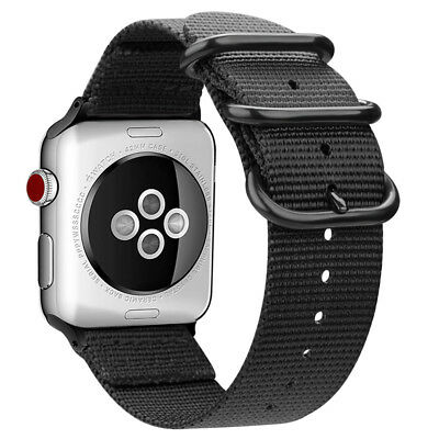 For iWatch Apple Watch Series 3 2 1 42mm Nylon Woven Band Strap Replacement 7