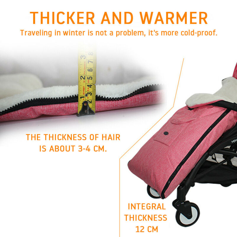 Universal Footmuff Pushchair Baby Cosy Toes Toddler Buggy Stroller Pram Long New 4