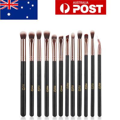 Pro 12Pcs Eyeshadow Makeup Brushes Set Blending Shader Eyeliner Lip Pencil Tools