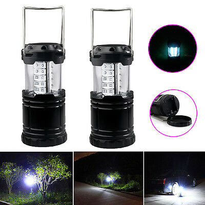 2p x 30 LED Camping Lantern Portable Collapsible Light Outdoor Hiking Work Lamp 12