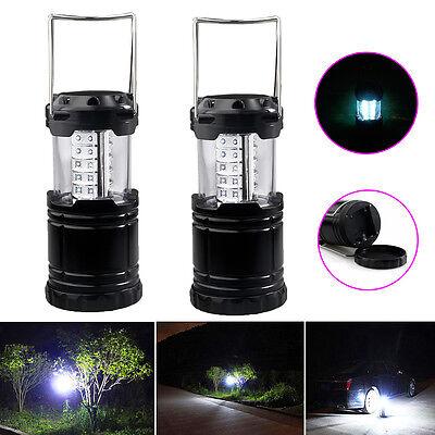 2pcs Portable 30 LED Outdoor Camping Lantern Bivouac Hiking Fishing Light Lamp 2
