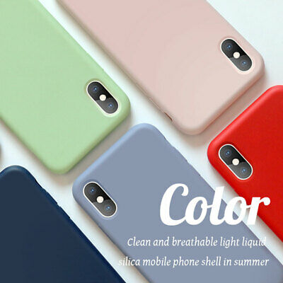 Liquid Silicone Case for iPhone 11 Pro 6 7 8Plus/XS Max XR X Hybrid Rubber Cover 3