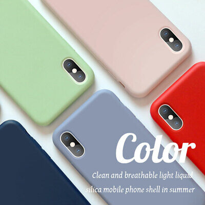 Thin Liquid Silicone Case for iPhone 6s 7 8 Plus/XS Max XR X Hybrid Rubber Cover 3