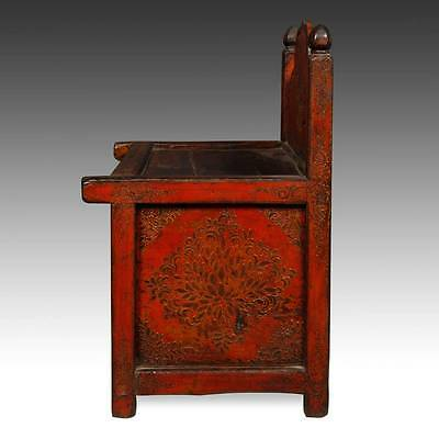 Rare Antique Buddha Stand Altar Painted Pine Tibet Chinese Furniture 19Th C. 3