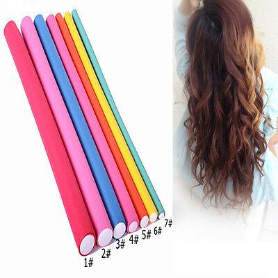 5Pcs Soft Foam Sponge DIY Styling Hair Rollers Rods Flexible Flex Curler Makers