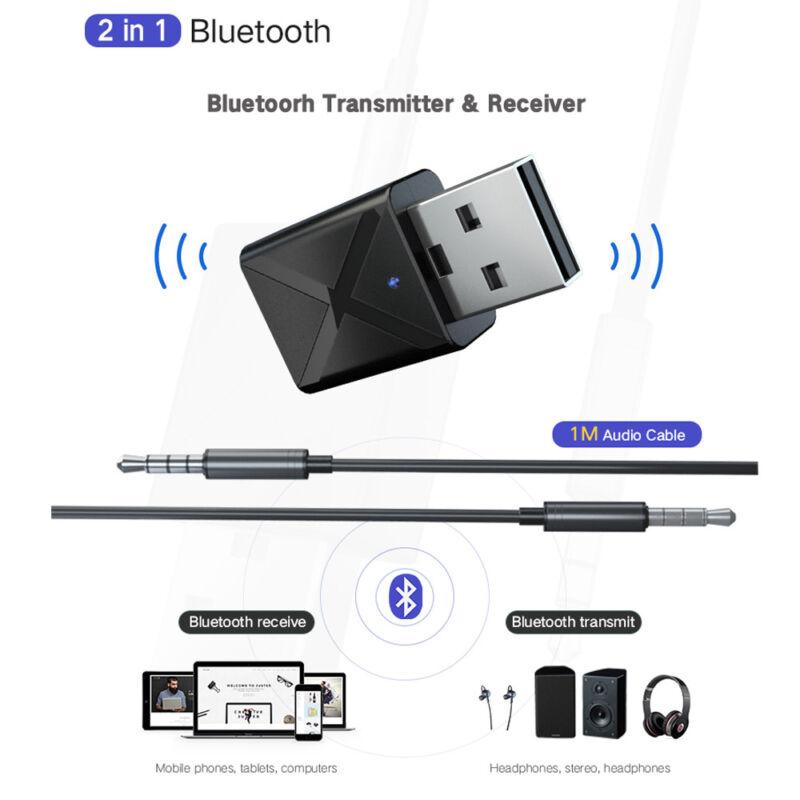 WIRELESS DONGLE USB Transmitter Bluetooth 5 0Adapter For TV/PC Headphone  Speaker