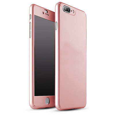 Coque Etui + Verre Trempe Protection Integrale 360 iPhone 6 6S 7 8 Plus X 5S SE 2