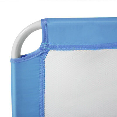 Barriera sponda per letto bambini ribaltabile pieghevole universale 102cm blu nu