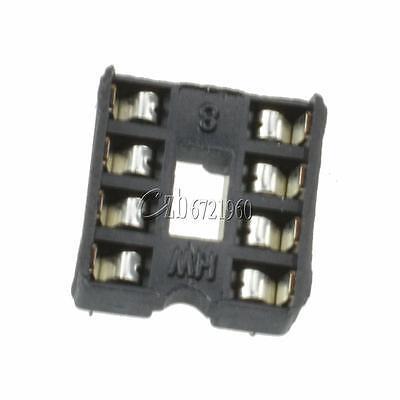 100PCS 8-Pins 8pin DIP Pitch IC Sockets Adaptor Solder Type Socket 6