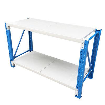 Steel Warehouse Workbench Shelving Racking Stand Shelf Garage Racks Work Benches