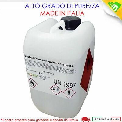 Alcool Isopropilico Bottiglia 5Lt Pulizia Plastica Vetri Ottiche Ossido Alcol 11