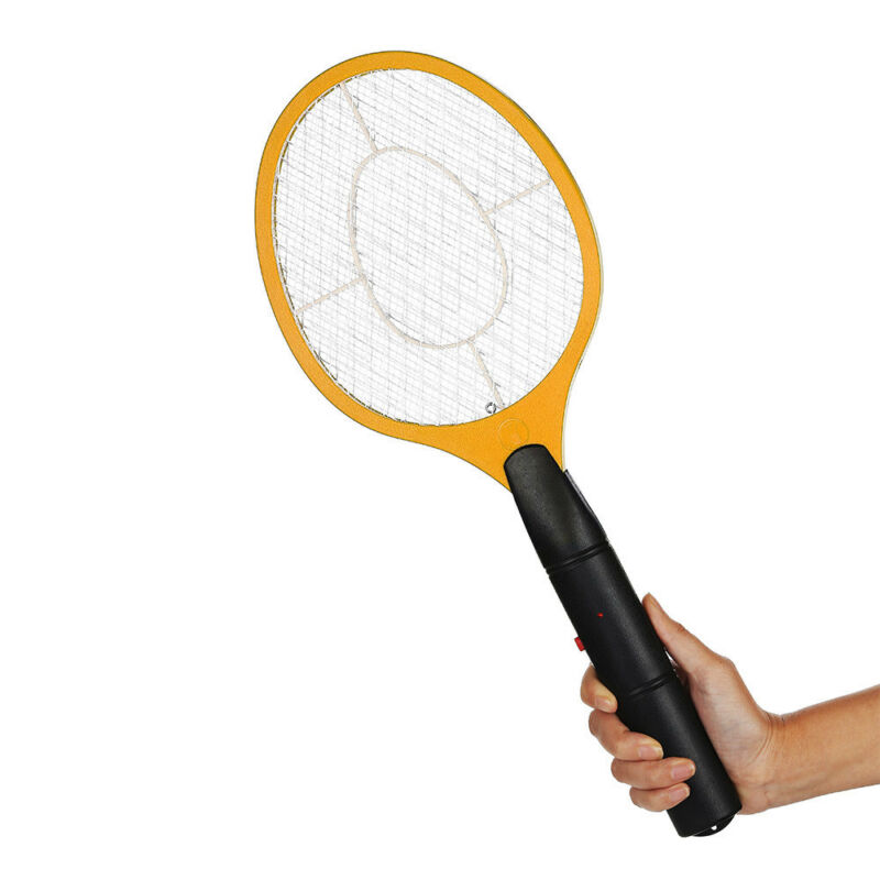 AU Electric Bug Zapper Racket Mosquito Fly Swatter Killer Insects Bat Handheld 2