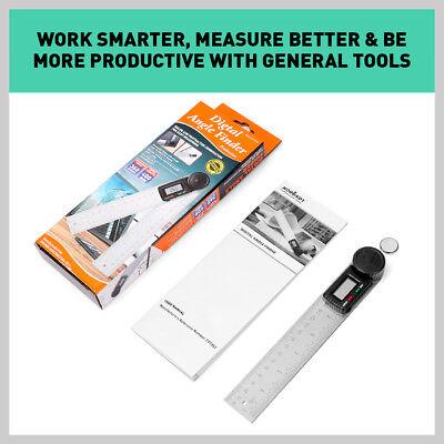 200mm Digital Angle Finder Ruler Protractor Measure Meter Stainless Steel 0-360° 9