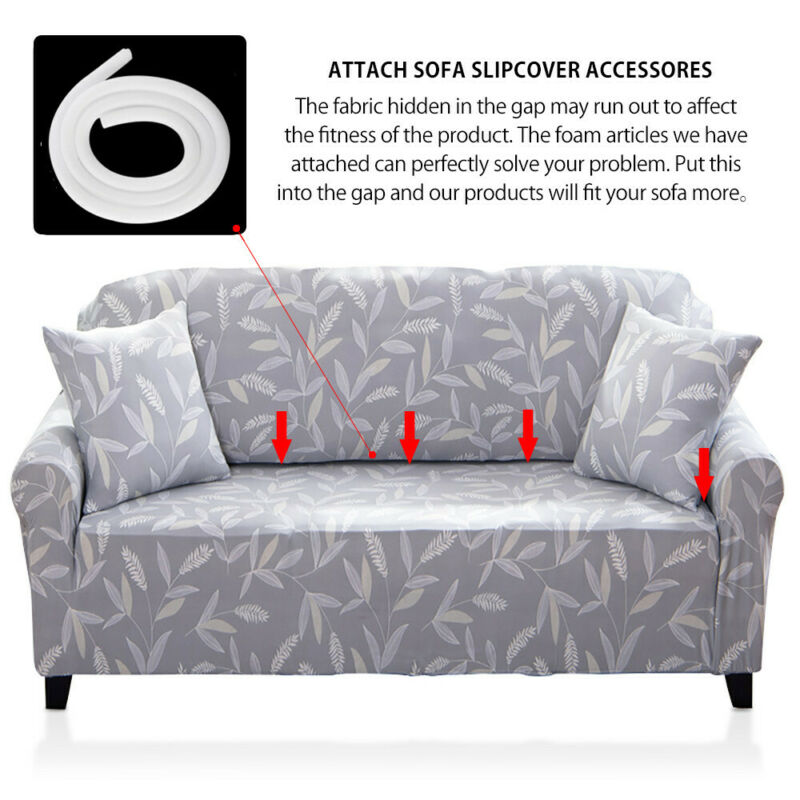 1-3 Sofa Covers Couch Slipcover Stretch Elastic Fabric Settee Protector Fit NEW 5