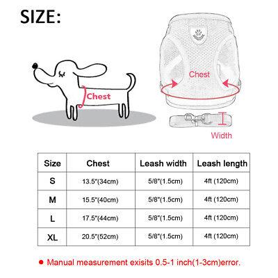 Cat Walking Jacket Harness Leash Escape Proof Adjustable Pet Puppy Dog Mesh Vest 12