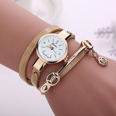 2016 Mode Femmes Montre Femmes acier inoxydable bracelet en cuir poignet montres 7