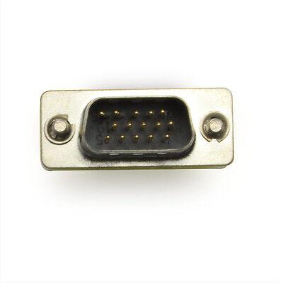 New 15 HD/New DB/15 VGA/SVGA KVM Gender Changer Adapter Male to Male M-M 2