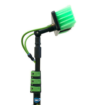 Window Cleaning Pole Lightweight 20ft Telescopic Water Fed Water Sprayer Homeuse 3