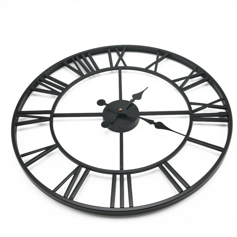 60cm Extra Large Roman Numerals Skeleton Wall Clock Big