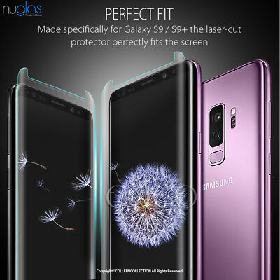 Galaxy S9 S8 Plus Note 9 8 NUGLAS Tempered Glass Full Screen Protector Samsung 3