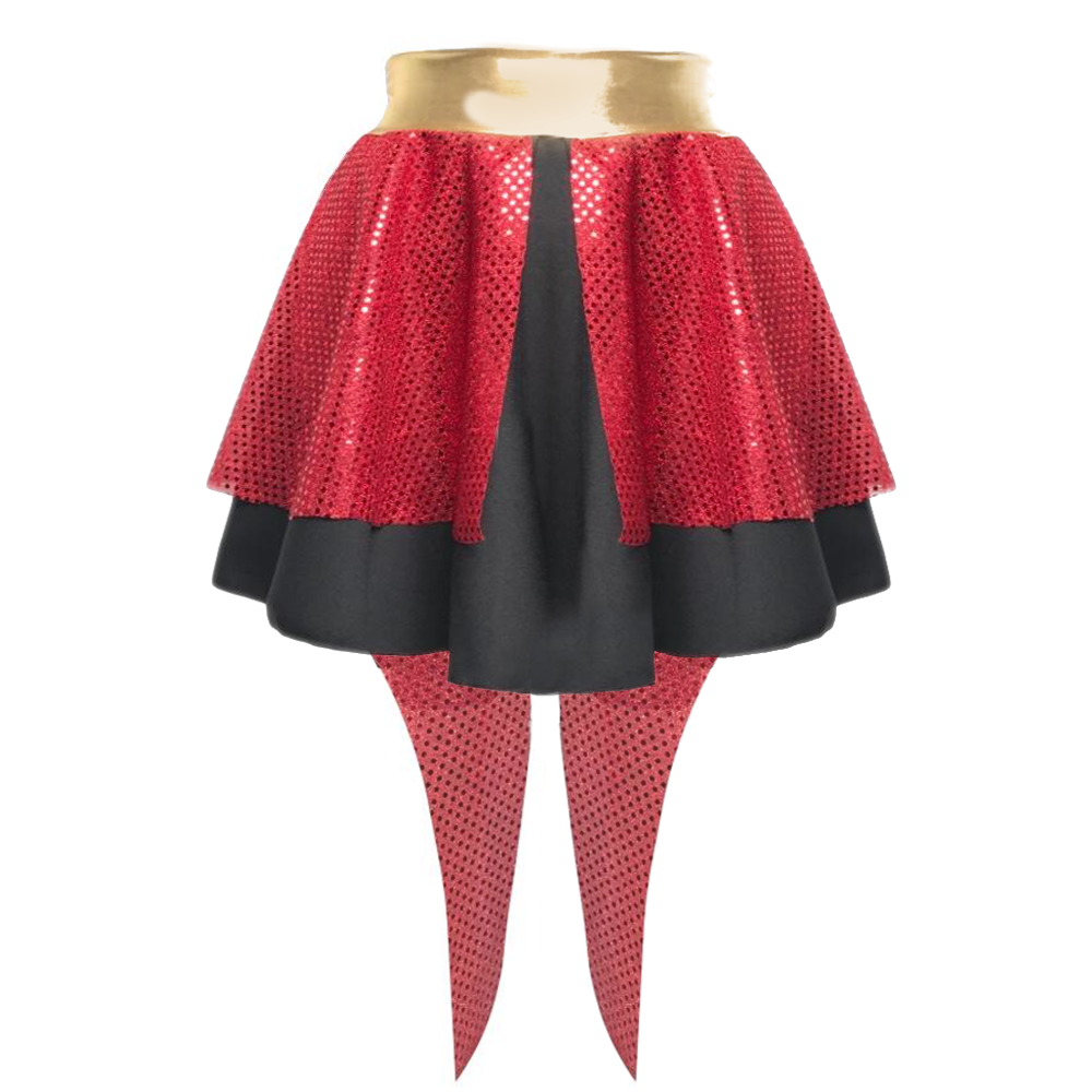 Ladies Ringleader GREATEST SHOW Wear Costume SEQUIN Skirt OR BACKLESS Waistcoat