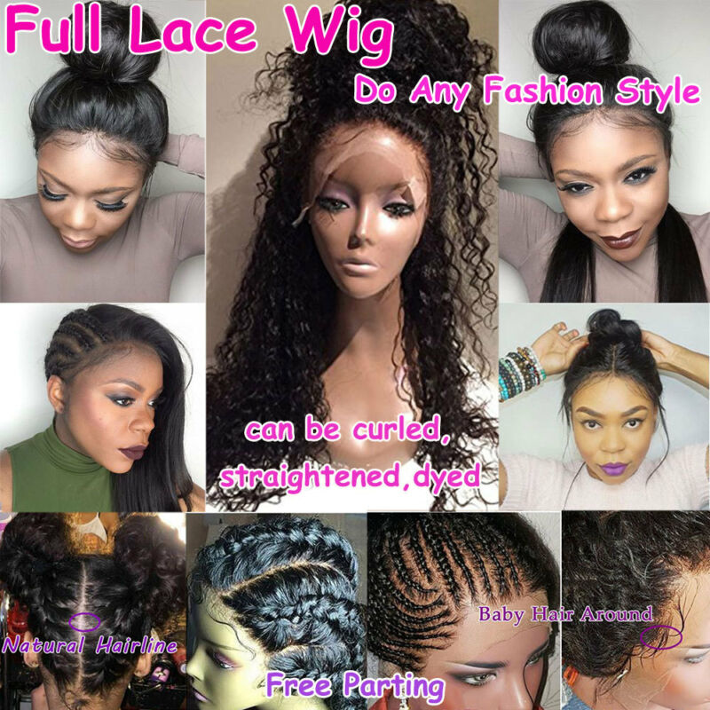 046d277f334 HOT GLUELESS SILK Top Full Lace Wig Brazilian Virgin Human Hair Lace Front  Wig x