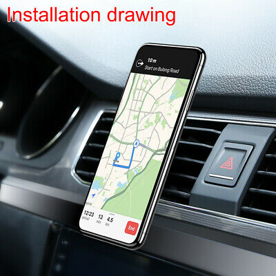 Phone Holder Clip Car Air Vent Magnetic Bracket for Mobile Phone GPS Accessories 9